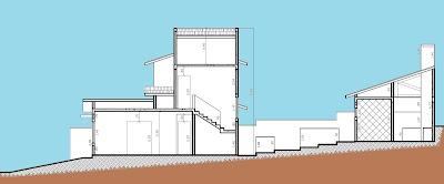 Na seção transversal, o projeto procura respeitar a topografia original do terreno, gerando a menor quantidade possível de movimentação de terra.