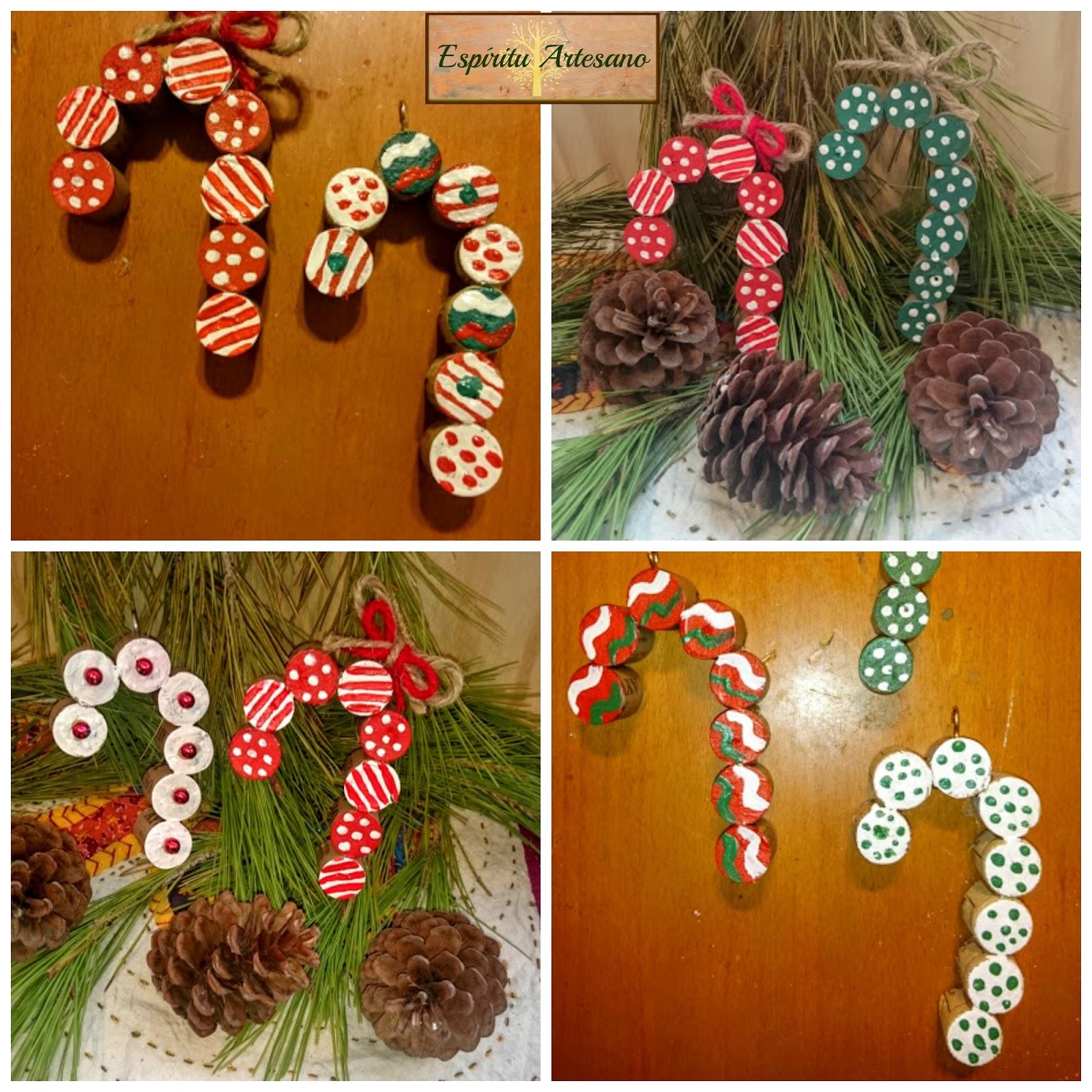 Esp ritu artesano adornos navide os con tapones de corcho - Videos de adornos navidenos ...
