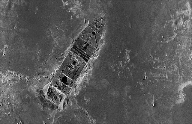 Proa del Titanic hundido