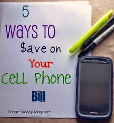 saving money ideas for your cellular phone