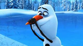 Gambar Olaf Frozen bersedih