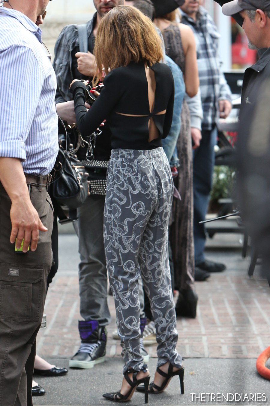 Nicole Richie On The Set Of 39 Extra 39 At The Grove In Los