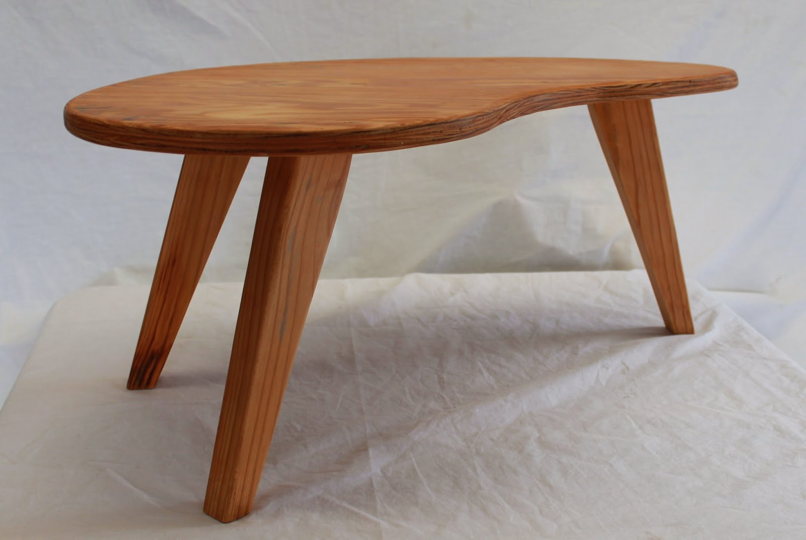 Mymakersgrain Kidney Shaped Plywood Side Coffee Table Sold