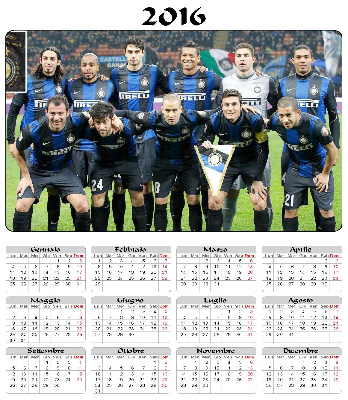 calendario 2016 - Inter - annuale