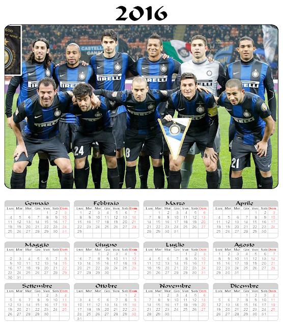 Calendario 2016 - Inter