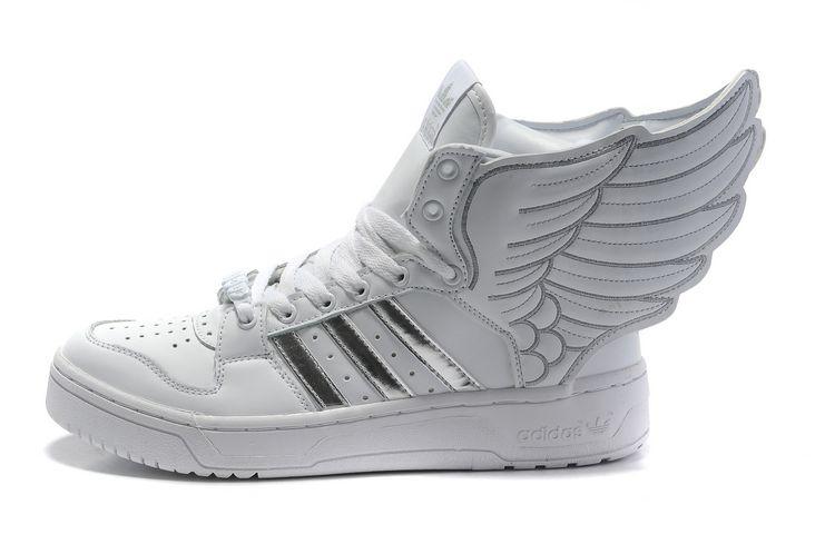 zapatillas adidas con alas blancas