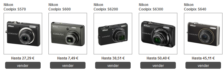 vender cámaras digitales nikon por internet