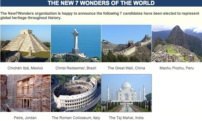 how to see the seven wonders of the world