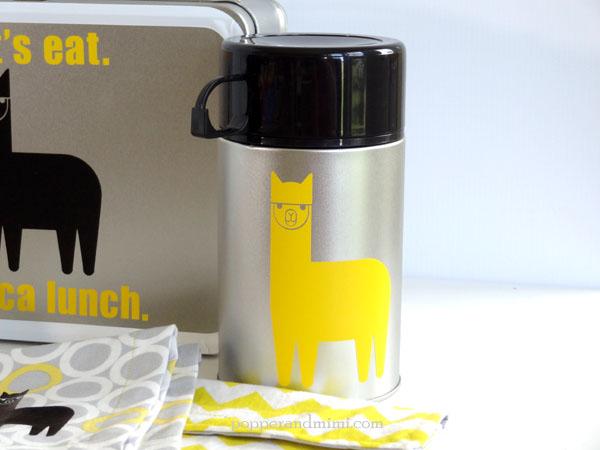 DIY Eco-Friendly Alpaca Lunch Box Set | popperandmimi.com