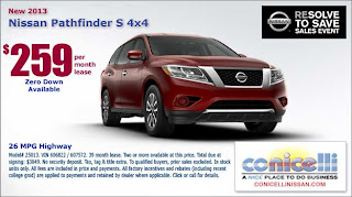 ... Fuel Economy Of 26 MPG, And First Class Luxury Interior. Be Among The  First To Experience The All New 2013 Nissan Pathfinder... An SUV For The  Real ...