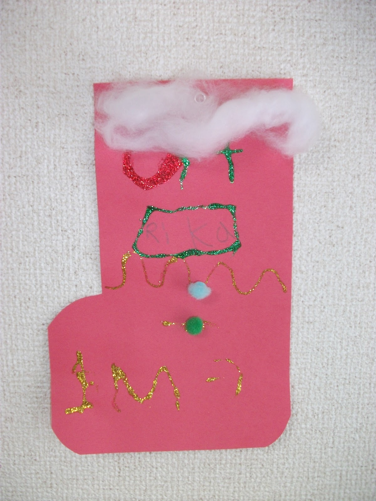 Simple Christmas Craft For Preschoolers : Preschool crafts for kids easy christmas stocking paper