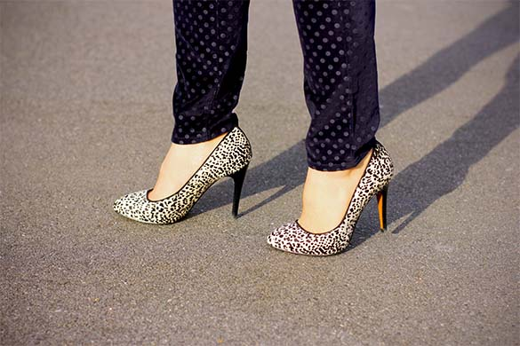 Zara snow leopard pump