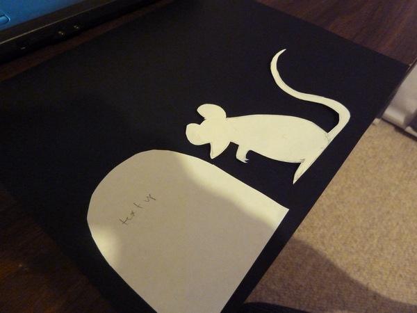 Sakacon: Halloween Rat Cut-Out Silhouettes