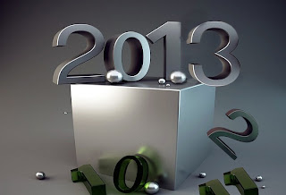 Happy New Year 2013 silver wallpaper