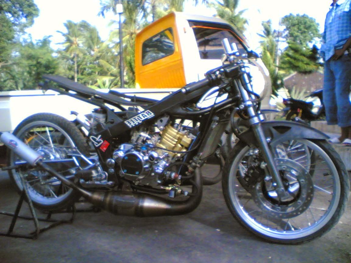 foto modifikasi motor ninja 4 tak drag version terbaru - maniak