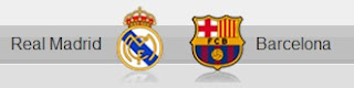 Real Madrid and Barcelona shields