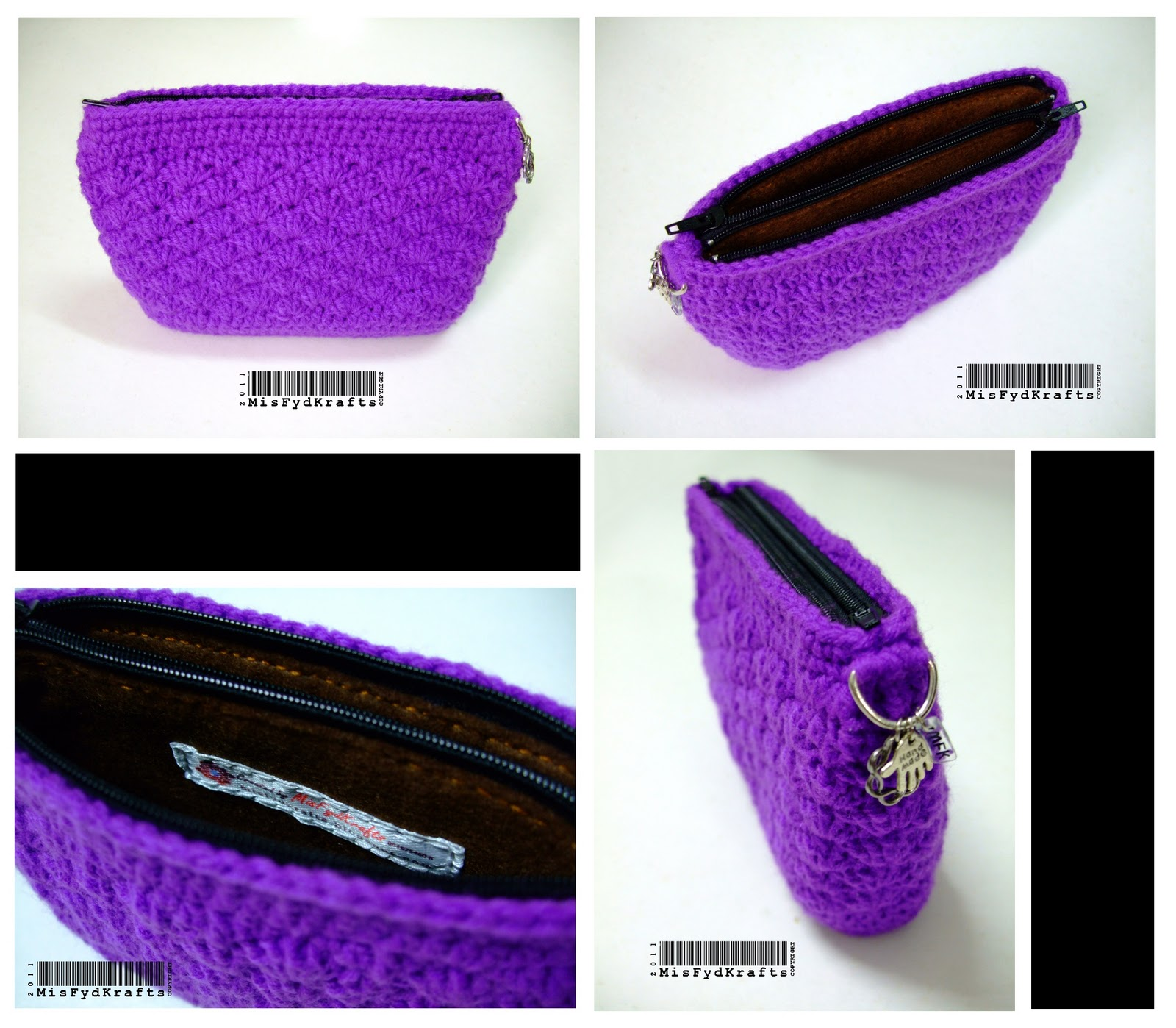 Crochet Zipper Pouch Tutorial : ... pouch after the first one here s the 2 pouches i ve made for her
