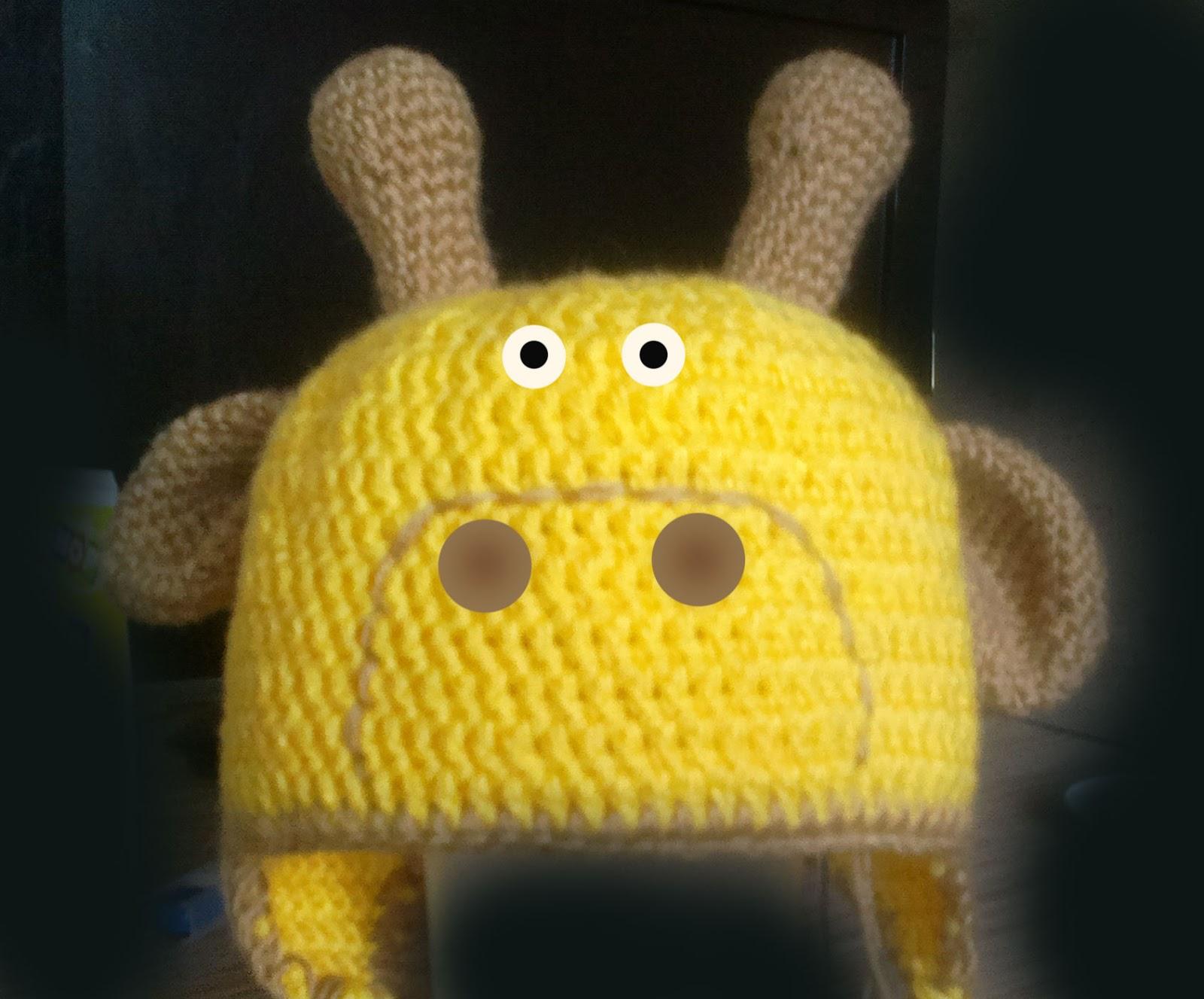 схема вязаной детской шапки крючком с ушками