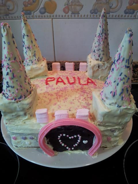 pastel castillo de princesas