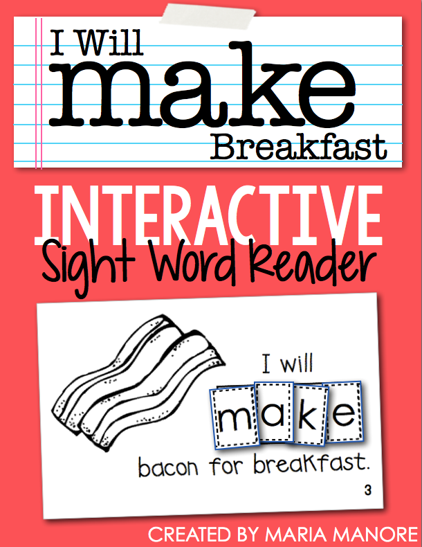 "emergent reader for sight word ""MAKE"""