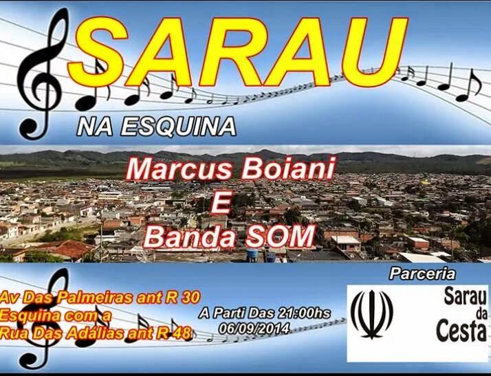 Sarau Na Esquina em parceria com Sarau da Cesta