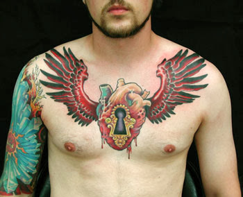 Winged Heart Tattoo