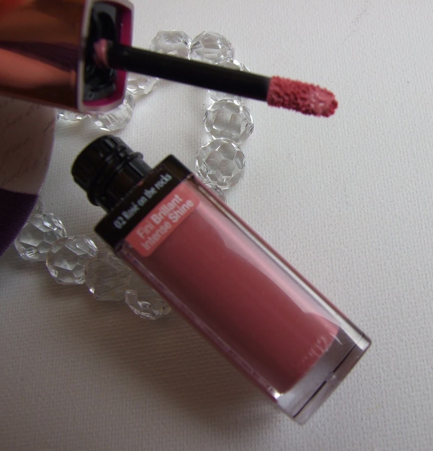 bourjois aqua laque liquuid lipstick beauty blog review swatches rose on the rocks