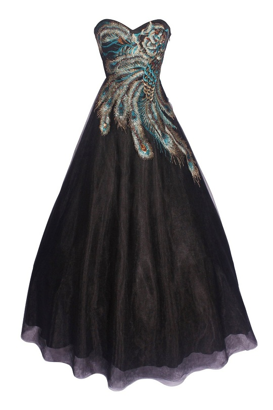 White peacock dress - photo#14