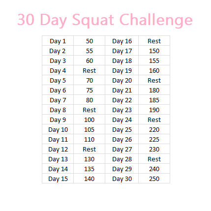Doing a 30 day squat challenge is something almost anybody ...