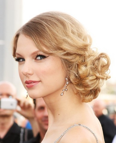 ... hair updo images taylor swift romantic curly hair styles updo medium
