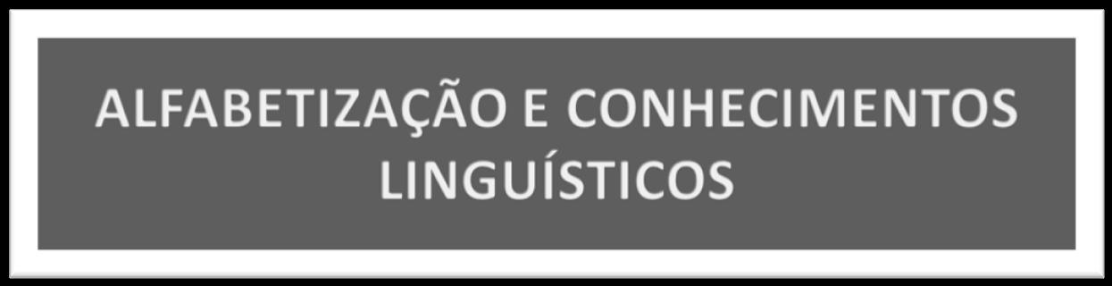 ALFABETIZAÇÃO E CONHECIMENTOS LINGUISTICOS