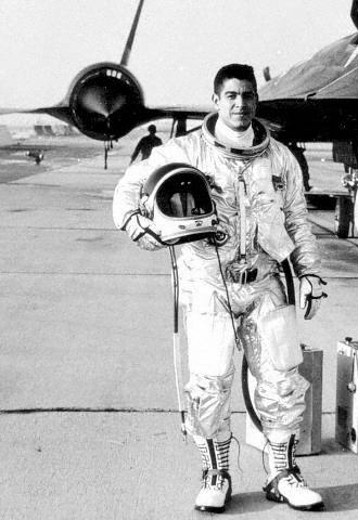 Gil preparing for a SR-71 Flight