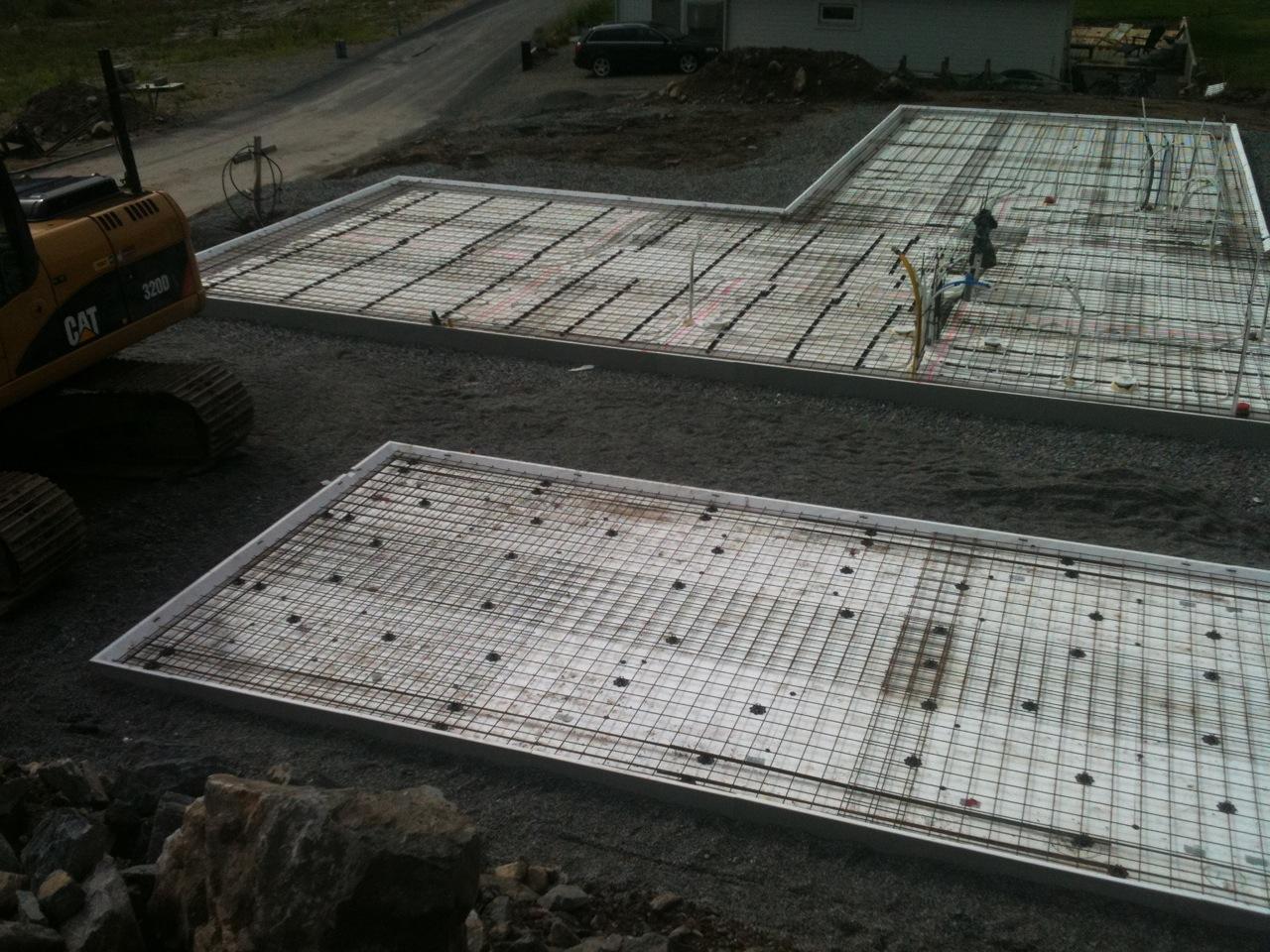 Inredning gjuta platta garage : Stenmursvägen - Vi bygger hus i Gäddeholm: Färdigt att gjuta