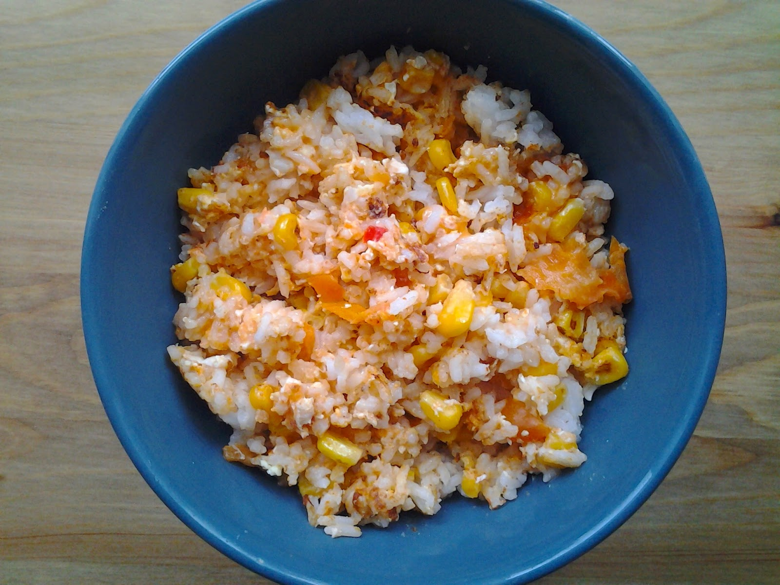 cheese sriracha egg fried rice