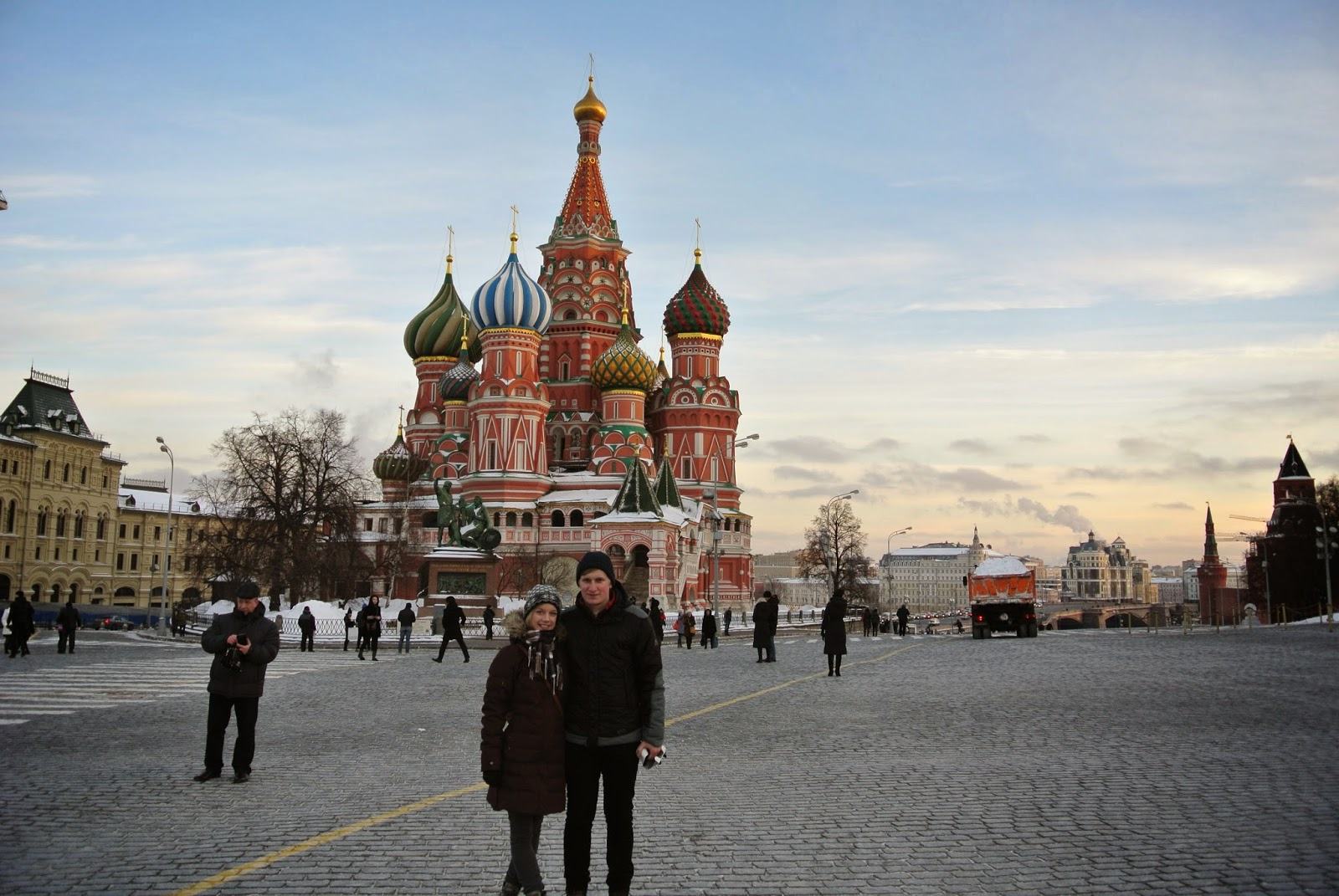Standing in Red Square, Moscow