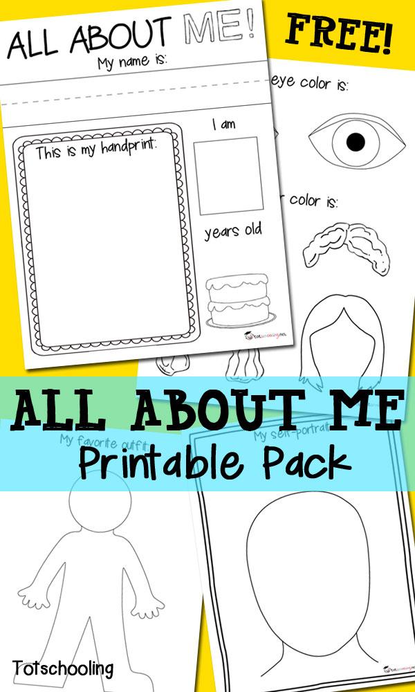 All about me worksheet kindergarten
