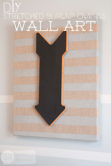 DIY Burlap Canvas Wall Art Wanna Join Me For A Pinterest Party Southern