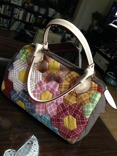 Bag Hexagon Patchwork   DIY step-by-step tutorial.  ����� � ���������������� �� ��������� � ������� �������