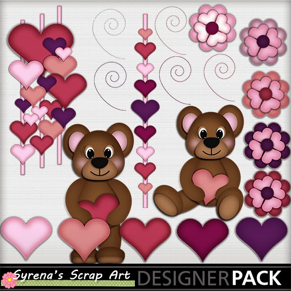 Syrenas place teddy bear love digital scrapbook set now live teddy bear love just in time for valentines day memories fandeluxe Ebook collections