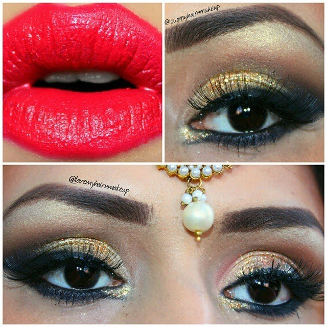 Indian Bridal Eye Makeup, Bridal Makeup, drugstore makeup , Indian Bridal makeup tutorial, Eye makeup