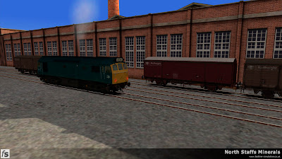 Fastline Simulation - North Staffs Minerals: A Class 25 runs round VDA vans in the sidings at the Wedgwood factory in North Staffs Minerals a route for RailWorks Train Simulator 2012.