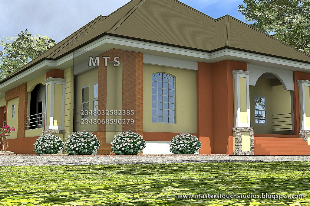 3 bedroom bungalow residential homes and public designs Bungalow house plans 3 bedrooms