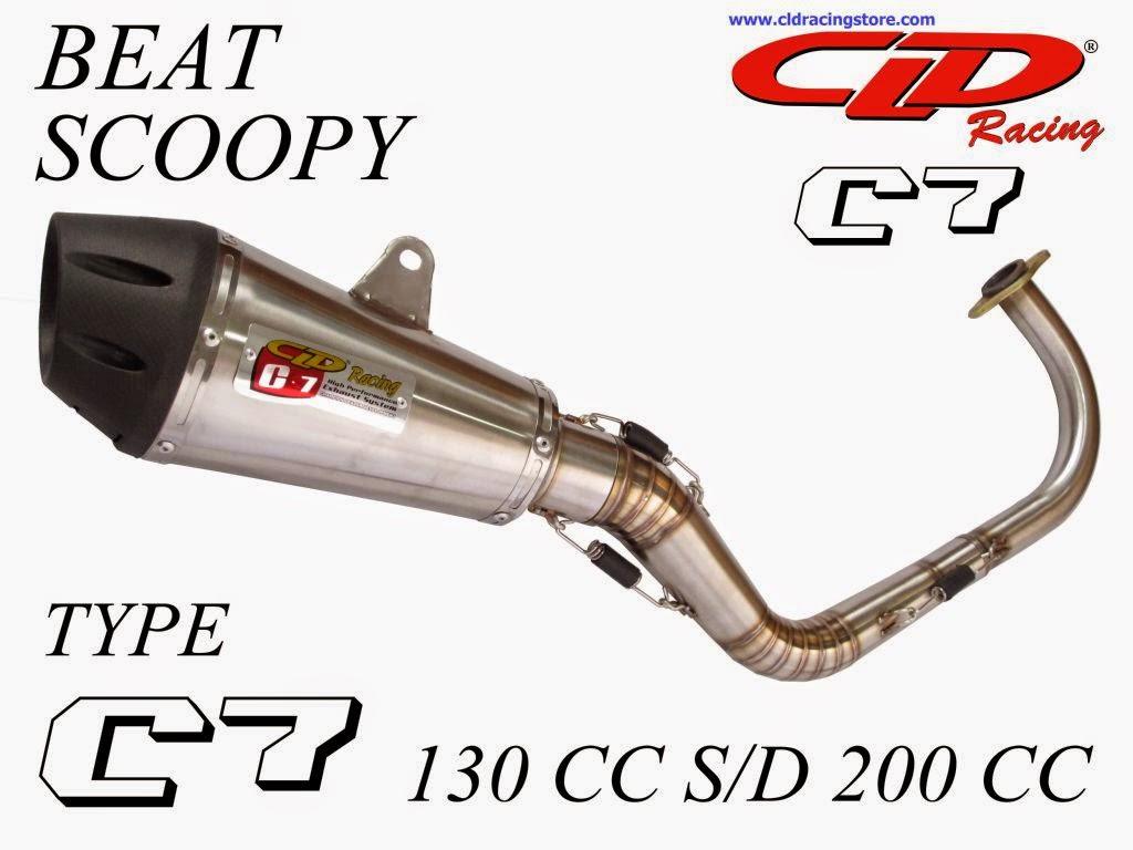 Cld Racing Knalpot Beat Vario Scopy Spacy Original Scoopy Type C7 130 S D 200cc