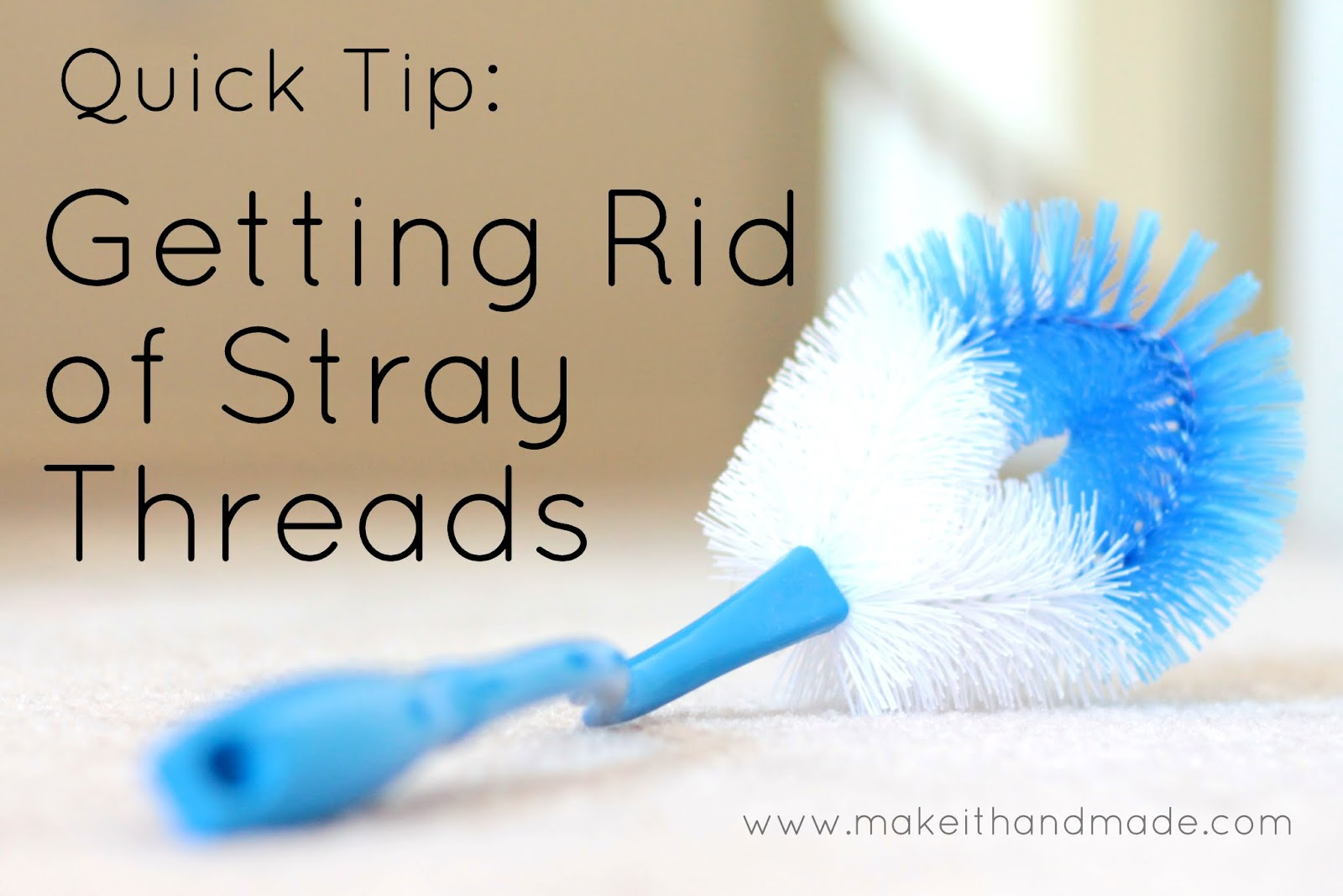 Sewing Quick Tip: Get Rid of Stray Threads With a Toilet Brush