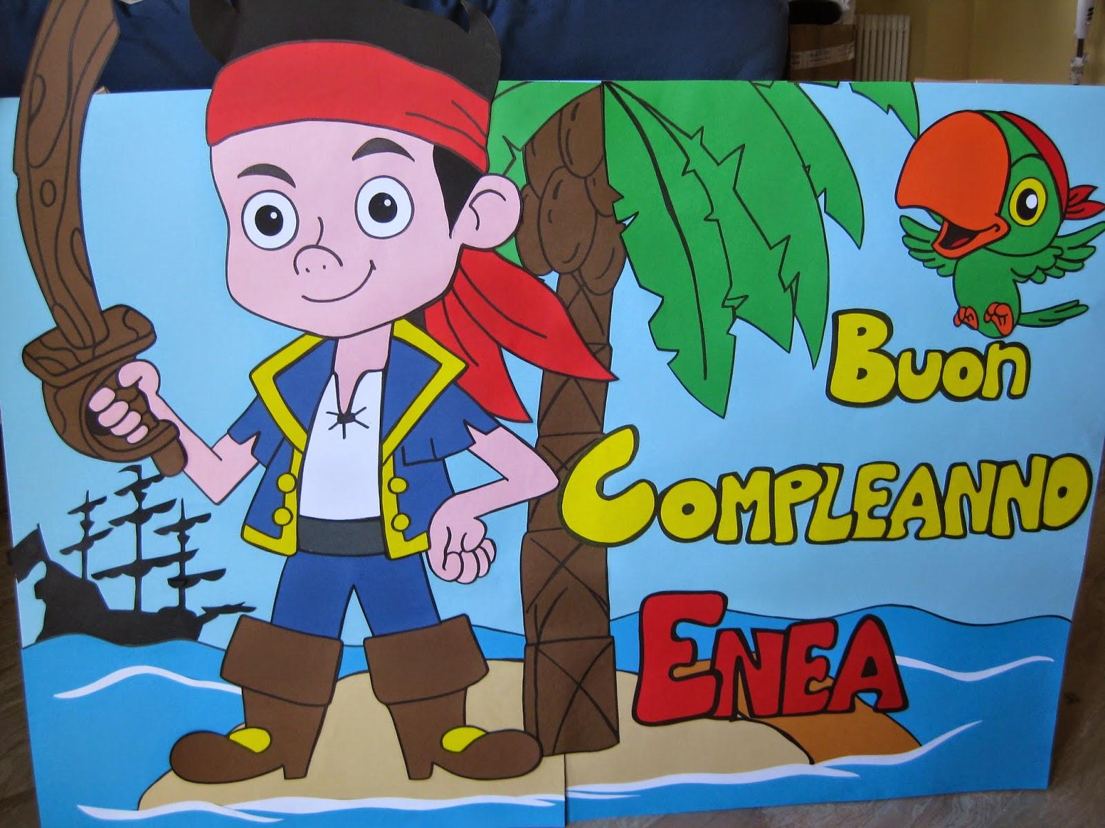 Cartoncini animati jake e i pirati dell isola che non c è