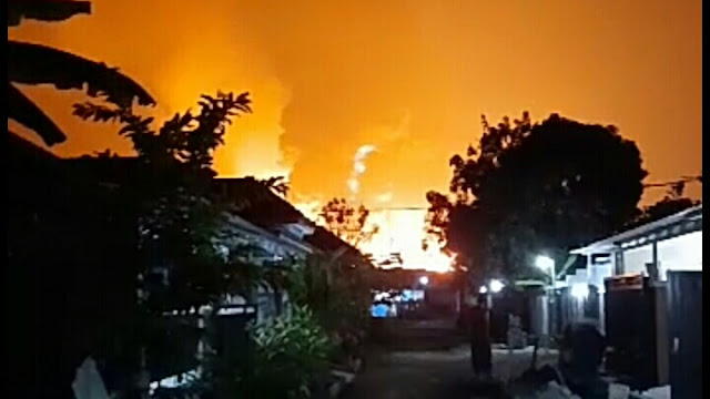 Kebakaran Pertamina Balongan di Indramayu