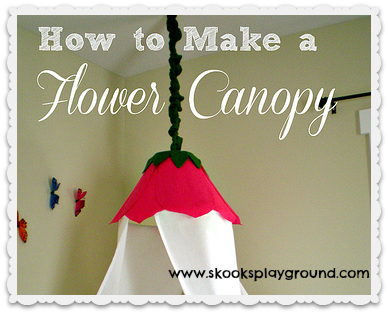 Tutorial: DIY Flower Princess Bed Canopy