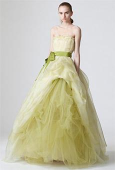 I Heart Wedding Dress Pastel Green Wedding Dress