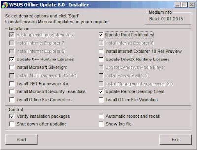 WSUS Offline Update 8.0 instalacion de actualizaciones