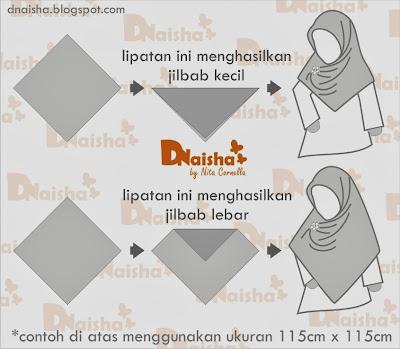 teknik melipat jilbab lebar